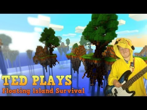 Ted Plays: Minecraft: Floating Island Survival - Episode 2: Falling Down Holes For Days