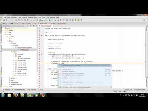 Develop simple Battery app in Android Studio