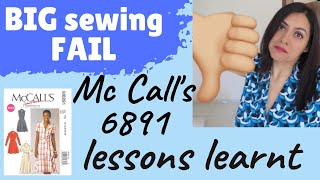 BIG sewing FAIL (M6891). Why I failed and lessons learnt.