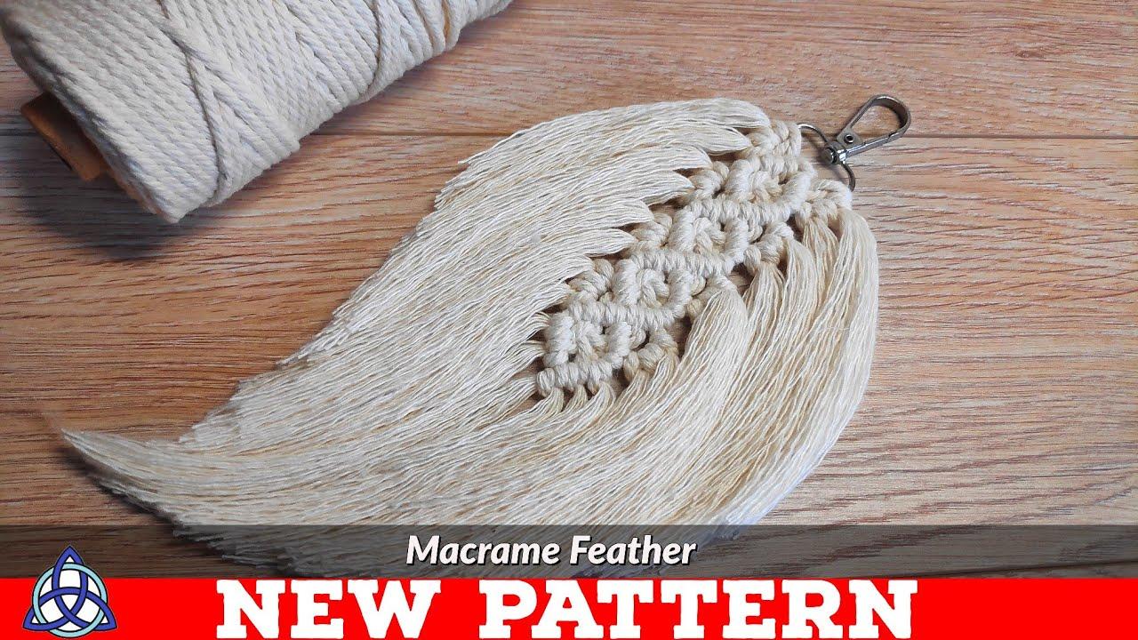 Diy Macrame Feathers Tutorial New Pattern Keychain