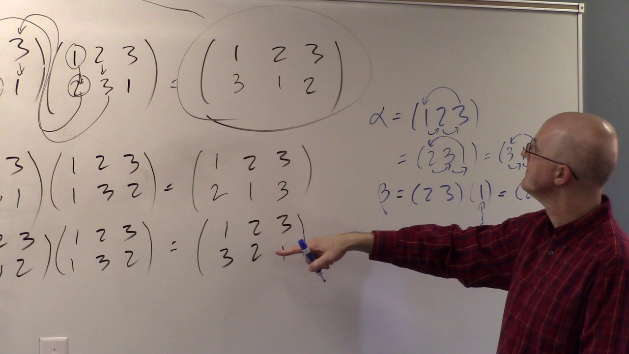 Abstract Algebra, Lec 10B, Symmetric Group S3, Generators & Relations,  Permutation Properties
