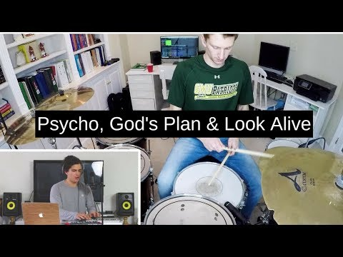 Alex Aiono - Psycho, God's Plan & Look Alive (Drum Cover)