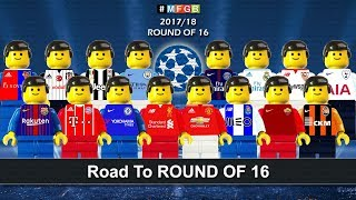 Road To ROUND OF 16 • Champions League 2018 • Goals Highlights Lego Football HD
