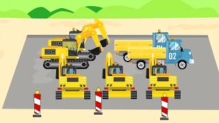 Counting components of Excavator and Truck - Video for Kids | Bajka Koparka i Wywrotka