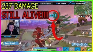 PLAYER GETS SHOT IN THE HEAD FOR 237 AND DOESN'T GO DOWN!!! - Fortnite highlights #201