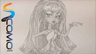 Dibujar a Cleo de Nile de las Monster High