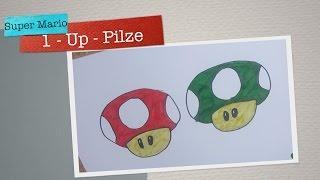1 - Up - Pilze aus den Super Mario Games zeichnen - Anleitung