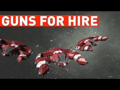 Guns For Hire: Mercenary / Trade Ship (Space Engineers)