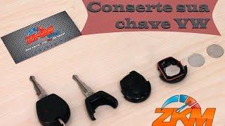 Chave VW original com controle remoto - Conserte você mesmo - Santana Gol Parati Saveiro G3