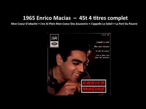 1965 Enrico Macias  – Mon Coeur D'attache  – 45T 4 titres complet