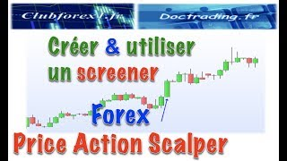 Créer & utiliser un screener : Forex Price Action Scalping