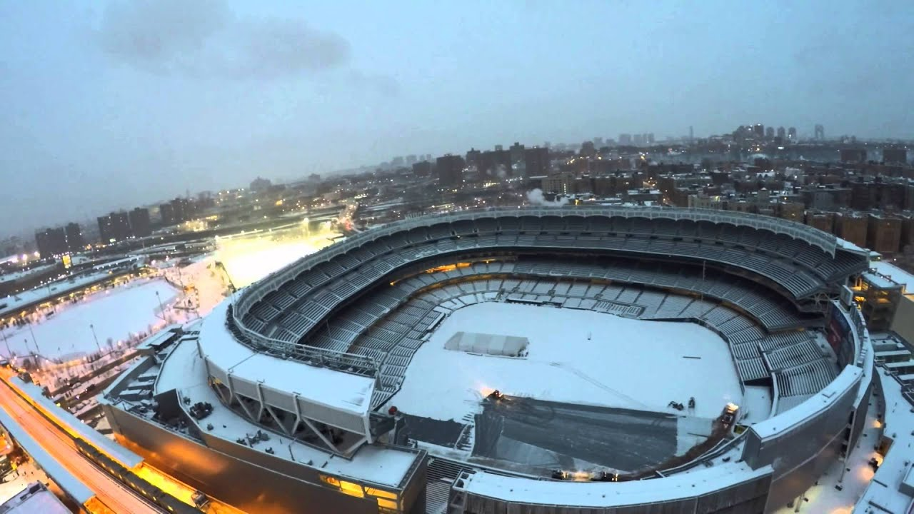 Flying My Drone Quadcopter Quadrocopter DJI Phantom Over New York Yankees Stadium