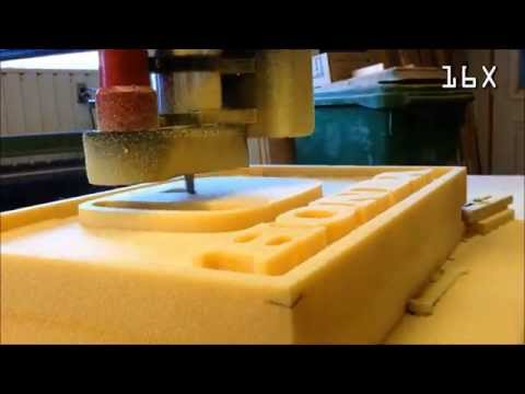 Homemade CNC Router Machining Foam Logo