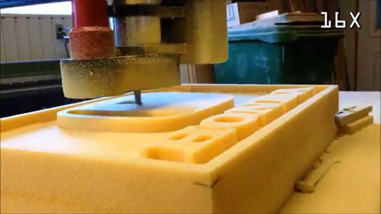 Homemade CNC Router Machining Foam Logo YouTube