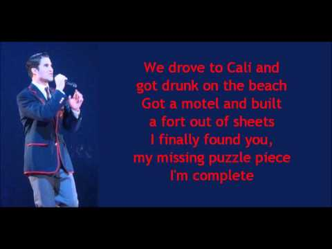 Glee - Teenage Dream (lyrics)