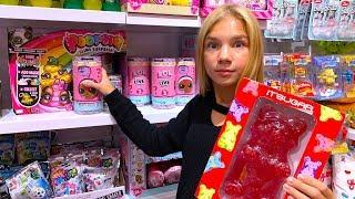 Гигантские ЖЕЛЕЙНЫЕ сладости и LOL Surprise ШОППИНГ