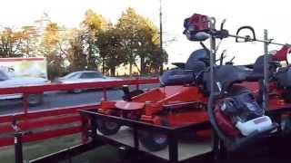 Husqvarna Mz6128 & Mz5225 Zero Turn Lawn Mower & Utility Trailer Package Deal