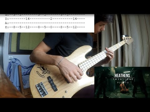 twenty one pilots - Heathens : Bass Cover (With Tabs)