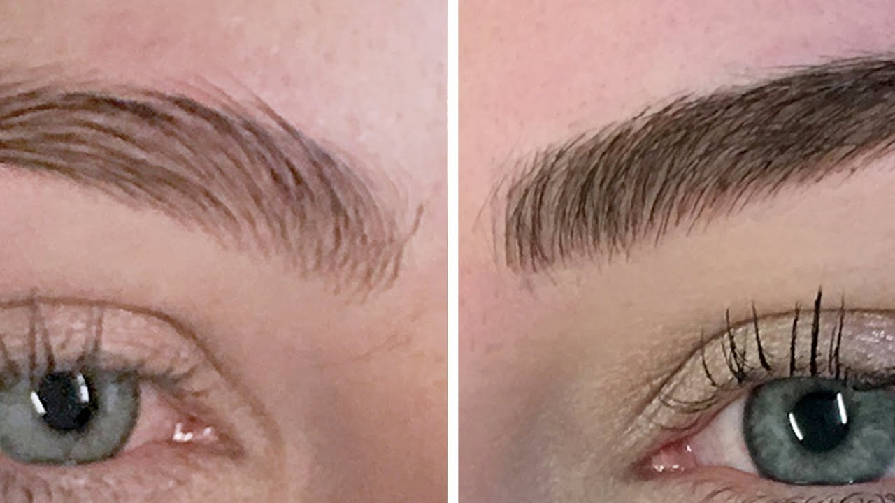 Women Get Their Eyebrows Tattooed