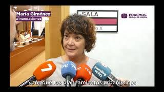 María Giménez medida contra inundaciones en el Mar Menor