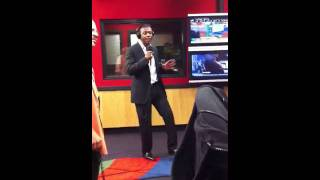 Keith Sweat Performs While Visiting The Red Velvet Cake Studio.