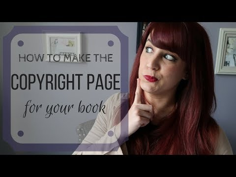 Making The Copyright Page For Your Book