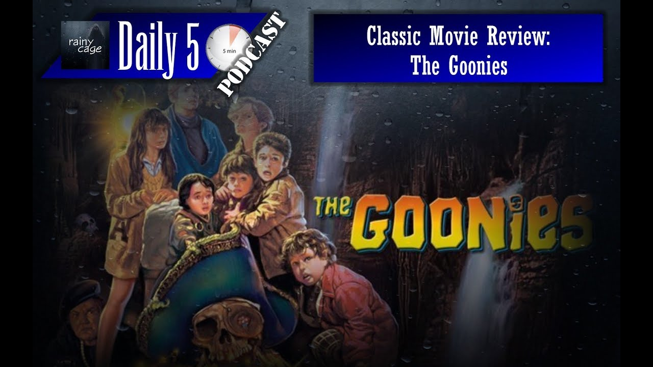 goonies movie review A bunch of kids out for an adventure, and to find money so that mikey can help his mum resist the property developers, embark on a treasure hunt the bunch stumble across a frightening but.