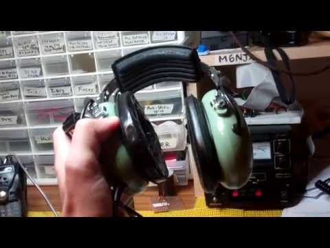 General aviation headset testing for ham radio - YouTube on