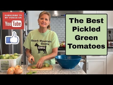 The Best Pickled Green Tomatoes