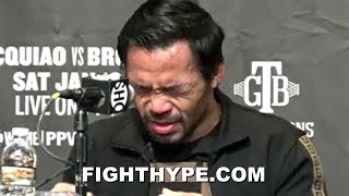 PACQUIAO REVEALS ILLNESS AFTER BEATING ADRIEN BRONER; LEAVES PRESS CONFERENCE EARLY DUE TO COLD