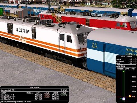 19712/Bhopal - Jaipur Exp || भोपाल - जयपुर एक्सप्रेस || Upto Shujalpur || IR In MSTS In Open Rail