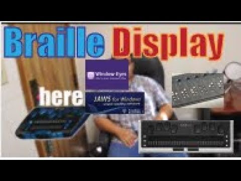 What is a braille display tactile electronic display for the blind