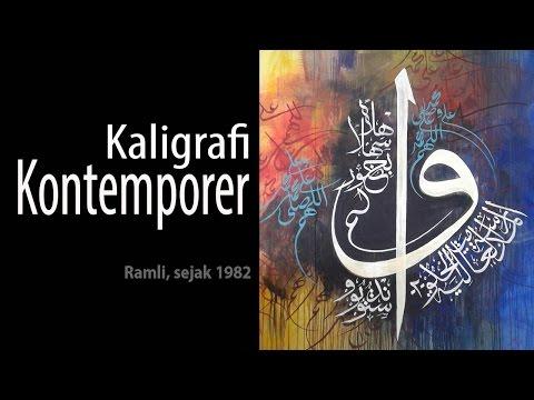 Belajar kaligrafi kontemporer