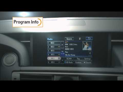2014 & 2015 Lexus IS w/HD Radio™ Technology