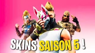 SKINS OF THE COMBAT OF SAISON 5 ON FORTNITE!