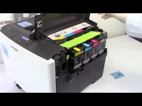How to refill your Lexmark CS310dn, CS410dn, CS410dnw, CS510de, CS510dew and related laser printers