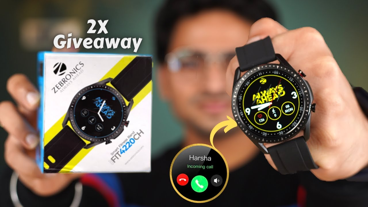 Zebronics ZebFit 4220CH Unboxing 🚀  Calling Feature At Just Rs 3,199/- 🔥  2X Giveaway 🤩