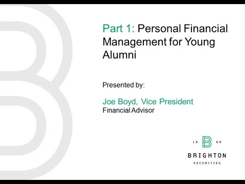 Financial Management for Young Alumni
