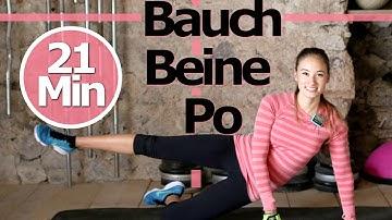 Bauch Beine Po Training für Zuhause - Ohne Springen - Knieschonend - Schöne Beine, flacher Bauch