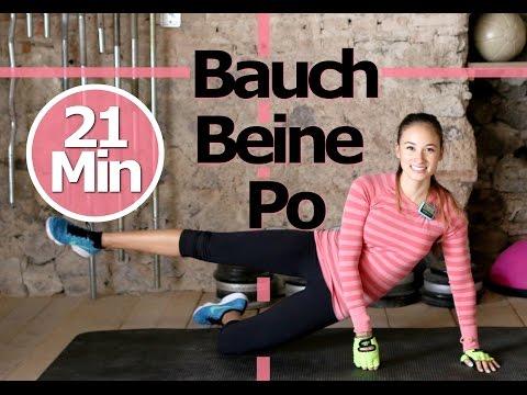 Bauch Beine Po Training fr Zuhause - Ohne Springen - Knieschonend - Schne Beine, flacher Bauch