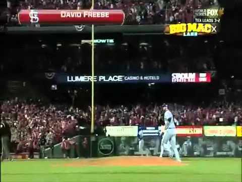 David Freese World Series Game 6 walk off