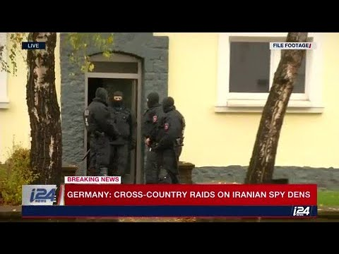 Raids across Germany on 'Iranian spy dens.'