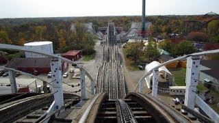 Racer (red side) front seat on-ride HD POV Kings Island