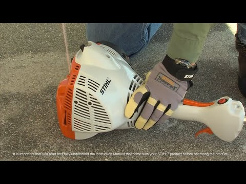 STIHL FS 56 RC-E Trimmer - How to Start