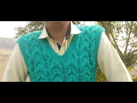 91ff2d914 Gents Half Sweater Part (4) Sui se Double Border kaise banyen ...