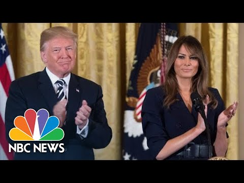 Trump And First Lady Celebrate National Day Of Prayer At White House | NBC News