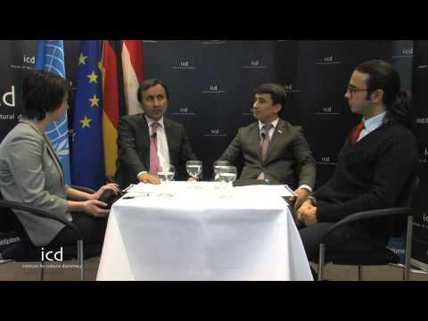 Imomudin Sattarow (Ambassador of Tajikistan to Germany; Lochin Fayzulloev  Vice Chairman of Tourism)