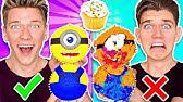 CUPCAKE ART CHALLENGE!!! Learn How To Make Minions Star Wars Jedi & Mario Nintendo Food DIY Pancake