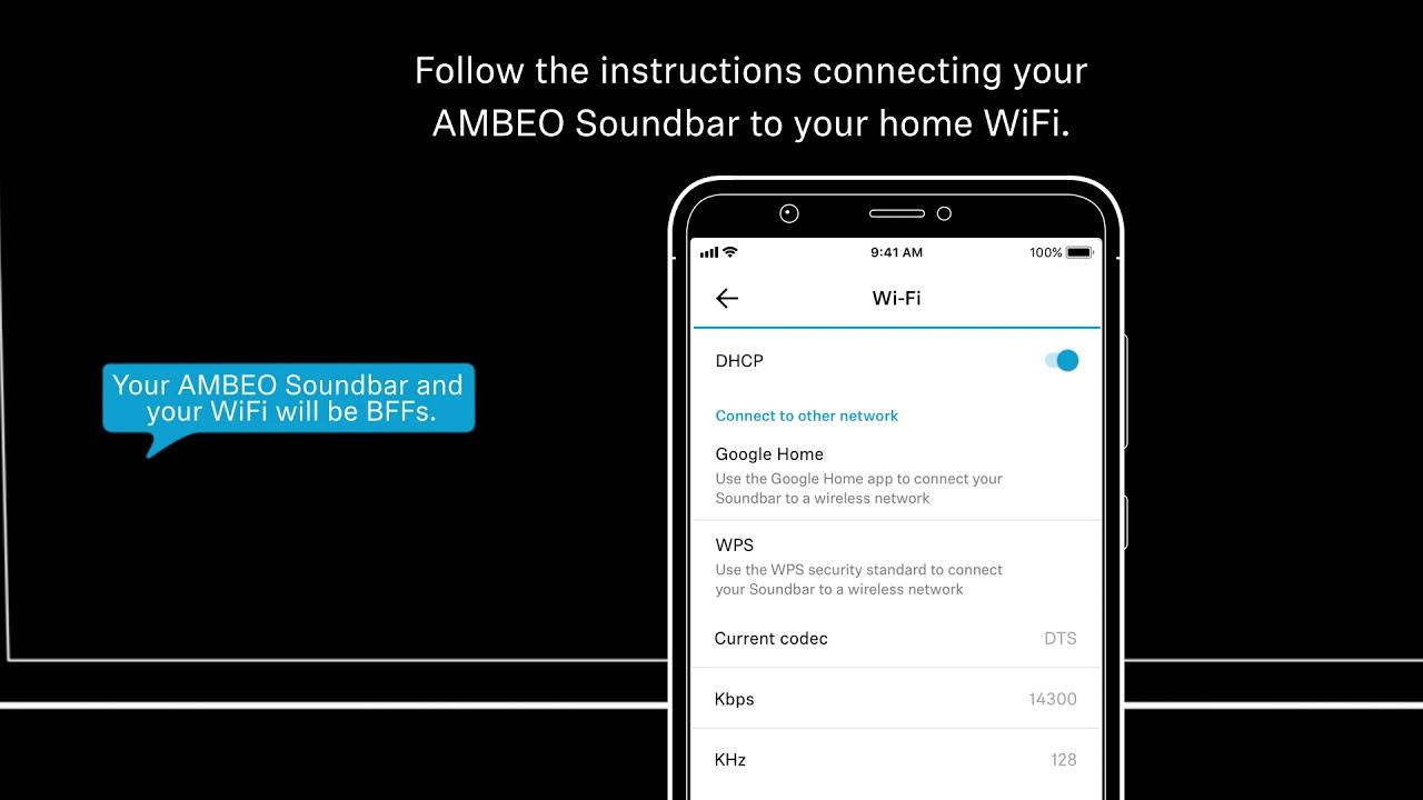 Sennheiser AMBEO Soundbar - Firmware update and Chromecast Built-in setup