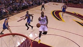 LeBron James Self Alley-oop Off The Backboard | 2017 NBA Finals Game 4 Warriors vs Cavaliers
